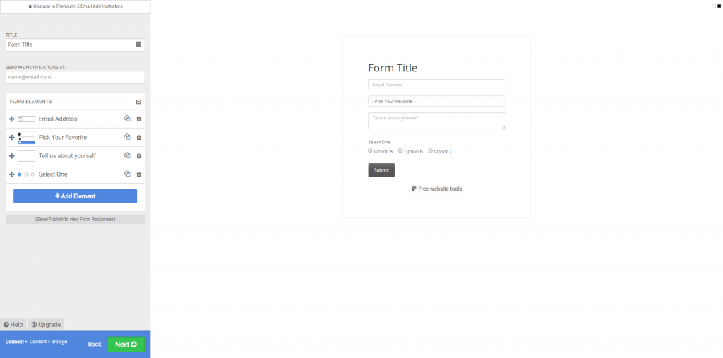 Weebly apps - form builder