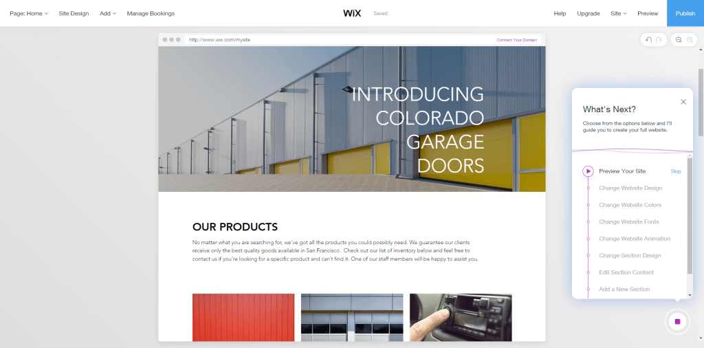 Wix ADI website