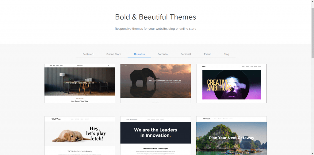 Weebly theme library