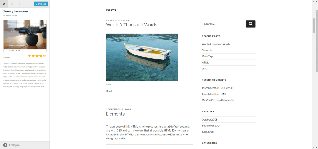 Wordpress - basic theme