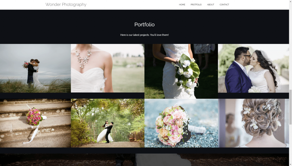 Wordpress portfolio