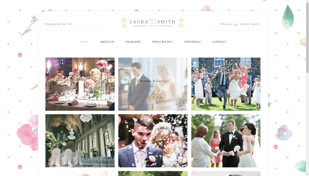 Wordpress -wedding photography theme