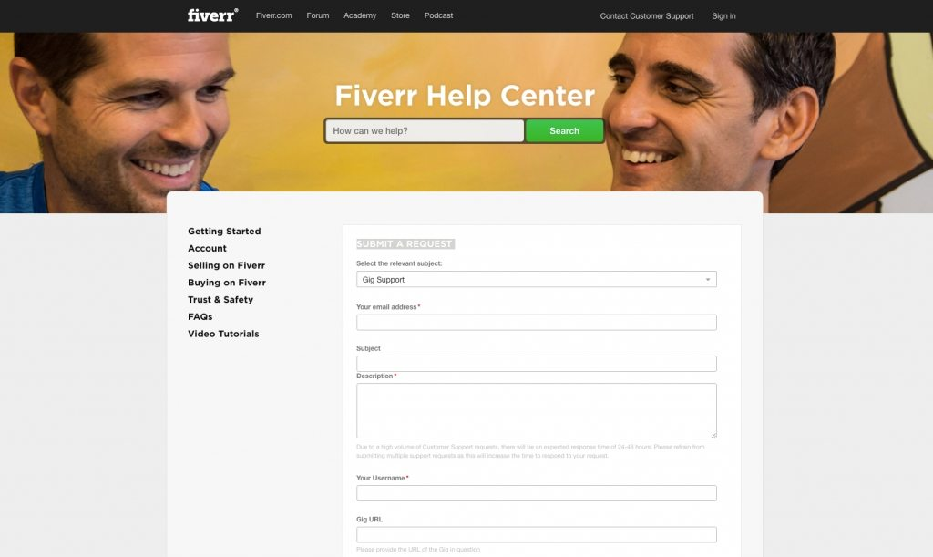 Fiverr Support