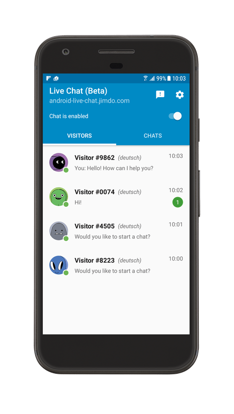Jimdo Live Chat for Android