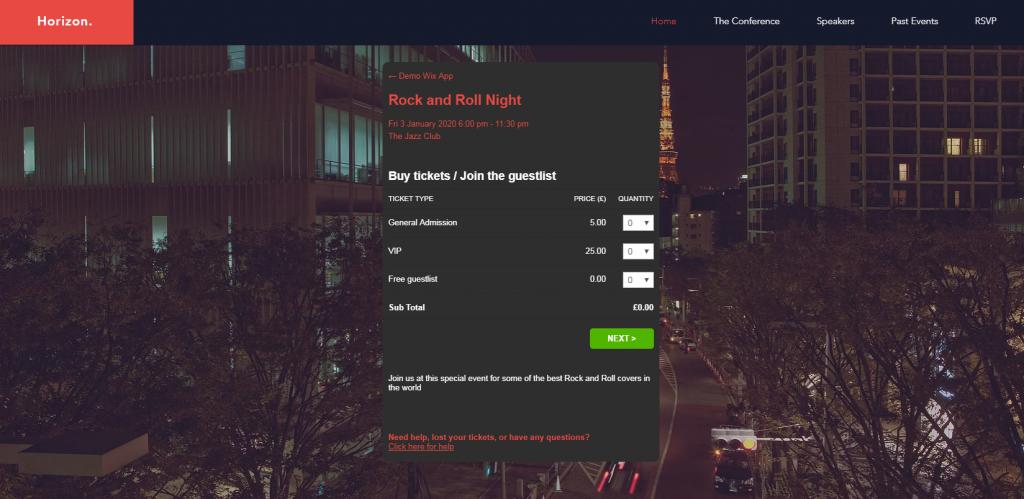 Sell Tickets App