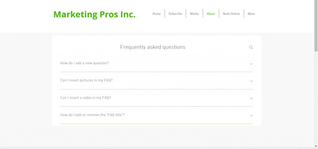 Wix FAQ