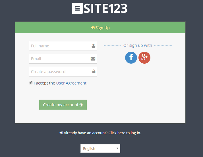 SITE123 Custom Form