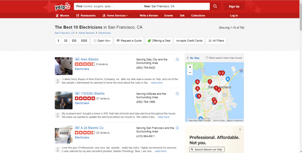 Yelp Local Results