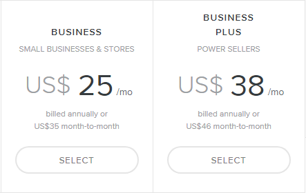 Weebly eCommerce pricing